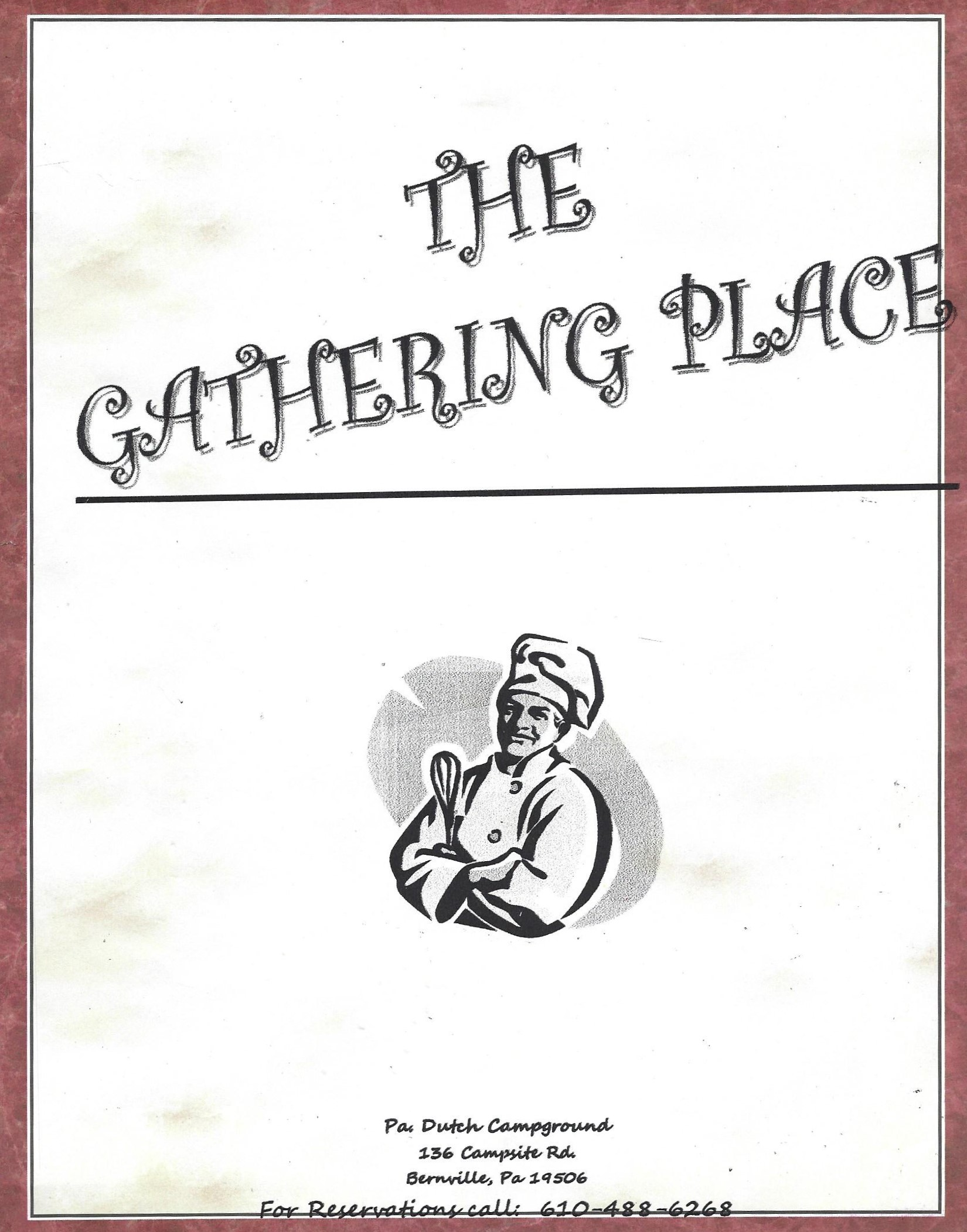 the gathering place menu cover